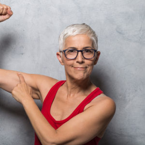 mature woman with muscles